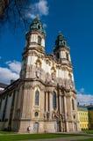 教会在Krzeszow,波兰 免版税图库摄影