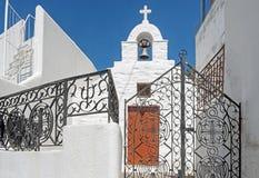 教会在Lefkes,帕罗斯岛,希腊 免版税库存图片