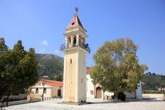 教会在Litakia村庄, Zante海岛,希腊 库存图片
