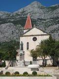 教会在Markarska 库存图片