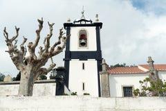 教会在Obidos,葡萄牙 库存照片