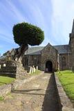 教会在Porlock,萨默塞特,英国 免版税库存照片
