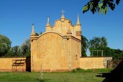 教会在Puerto Quijarro,圣克鲁斯,玻利维亚 图库摄影