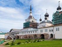 教会在Solovetsky修道院,俄国里 库存图片