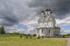 教会在Taininskoye村庄  库存照片