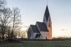 教会在Tofta,哥得兰岛在瑞典 库存图片