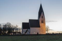 教会在Tofta,哥得兰岛在瑞典 免版税库存照片