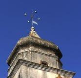 教会地中海尖顶 库存照片