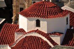教会地中海屋顶 免版税图库摄影