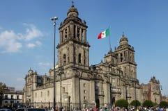 教会城市墨西哥 免版税库存图片