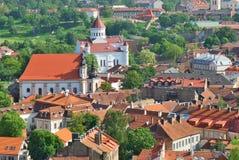 教会城市立陶宛正统维尔纽斯 库存照片