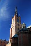 教会城市老斯德哥尔摩 库存照片
