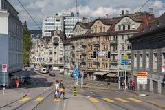 教会城市都市风景时钟表盘最大的彼得s st瑞士塔世界苏黎世 库存照片