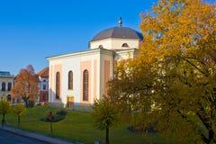 教会城市levoca 库存图片