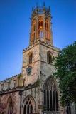教会塔在约克,英国 免版税库存图片