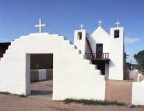 教会墨西哥新的老taos 图库摄影