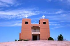 教会墨西哥新 免版税库存图片