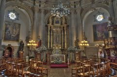 教会墨西哥 库存照片