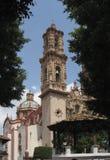 教会墨西哥prisca圣诞老人taxco 免版税库存图片