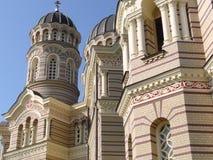 教会外部拉脱维亚 免版税库存图片