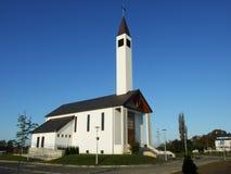 教会外部现代 库存图片