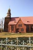教会多布拉有历史的nesr老波兰wroclaw 图库摄影