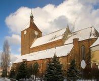 教会大冬天 免版税图库摄影