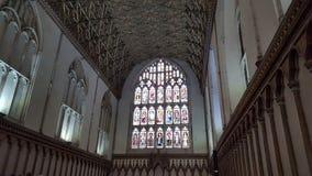 教会天花板和Windows 库存图片