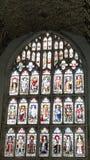 教会天花板和Windows 免版税库存照片