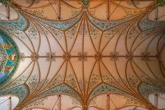 教会天花板建筑细节高小山得克萨斯 免版税图库摄影