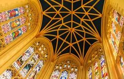 教会天花板 免版税库存图片