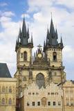 教会夫人我们的布拉格tyn 免版税库存图片