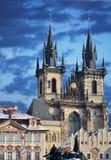教会夫人我们的布拉格tyn 免版税库存照片
