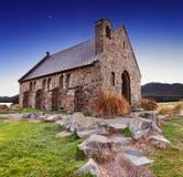 教会好新的牧羊人西兰 库存照片