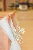 教会婚礼细节 库存照片