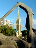 教会小山毛里求斯上升了 库存照片