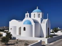 教会小希腊的santorini 库存照片