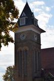 教会尖顶和belltower, Ligonier PA 库存图片