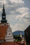 教会尖顶在Krems 免版税库存图片