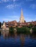教会尖顶, Abingdon,英国。 免版税库存照片