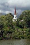 教会尖顶 免版税库存照片