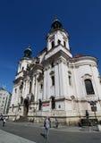 教会尼古拉斯・布拉格圣徒 库存图片
