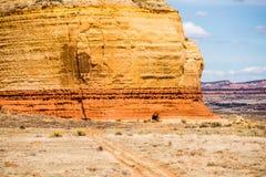 教会岩石美国高速公路191在Canyonlands Natio东部的犹他 免版税库存图片
