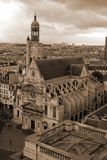 教会巴黎 库存照片