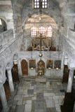 教会希腊内部海岛paros 免版税库存照片