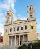 教会希腊海岛正统syros 免版税库存照片