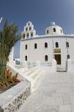 教会希腊海岛santorini 免版税库存照片