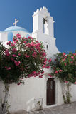 教会希腊结构树 库存图片
