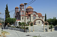 教会希腊 库存照片