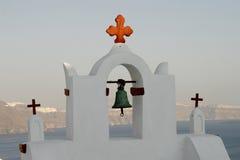 教会希腊santorini塔 免版税图库摄影
